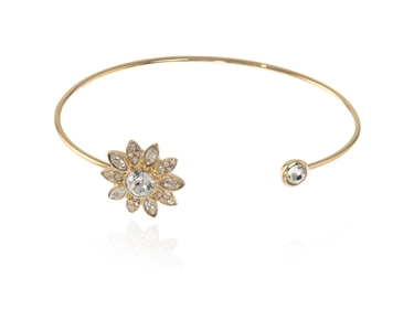Cachet Swarovski Crystal  Dania Spring Bangle Gold