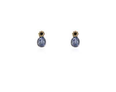 Swarovski Crystal  Forget-Me-Not Stud Earrings  | Rhodium Provence Lavender