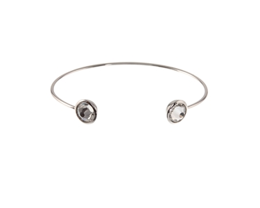 Cachet Swarovski Crystal  Brilliant Spring Bangle Rhodium