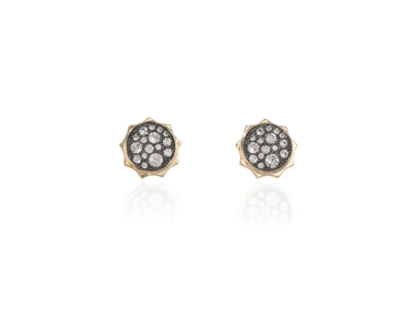 Cachet Swarovski Crystal  Taigi Pierced Earrings Gun Metal