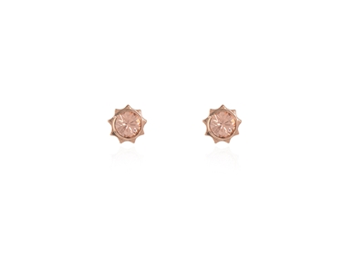 Swarovski Crystal  Bly Stud Earrings  | Pink Gold Light Peach