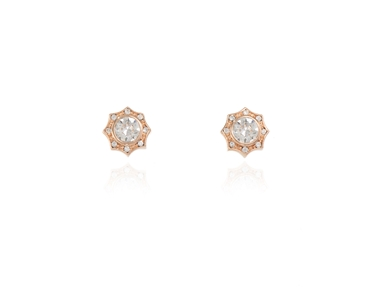 Cachet Swarovski Crystal  Becka Pierced Earrings Pink Gold