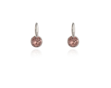 Cachet Swarovski Crystal  Lara Simply Stud Earrings Rhodium Blush Rose
