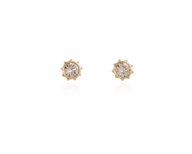 Swarovski Crystal  Bly Stud Earrings  | Gold Light Silk