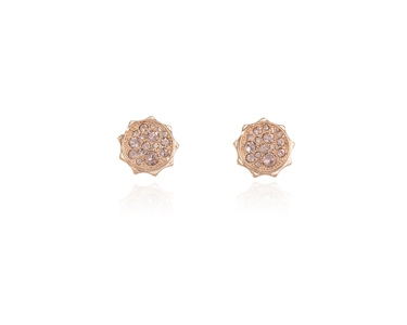 Cachet Swarovski Crystal  Taigi Pierced Earrings Pink Gold Vintage Rose