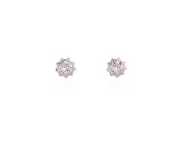 Swarovski Crystal  Bly Stud Earrings  | Rhodium Crystal
