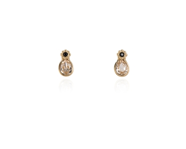 Cachet Swarovski Crystal  Forget-Me-Not Stud Earrings Gold