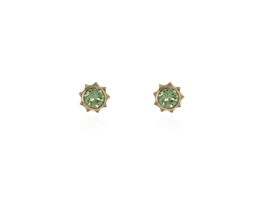 Swarovski Crystal  Bly Stud Earrings  | Gold Peridot