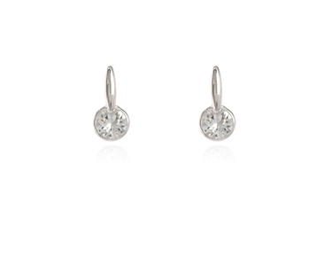 Cachet Swarovski Crystal  Lara Simply Stud Earrings Rhodium