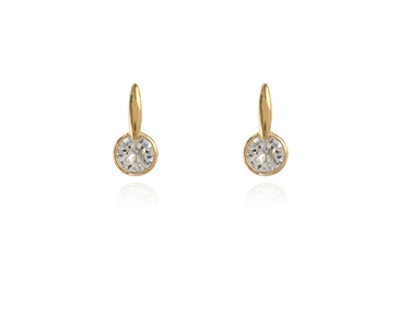 Cachet Swarovski Crystal  Lara Simply Stud Earrings Gold