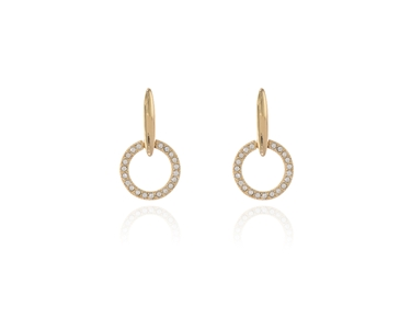 Cachet Swarovski Crystal  Lara Drop Pierced Earrings Gold