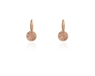 Cachet Swarovski Crystal  Lara Simply Stud Earrings Pink Gold Light Peach