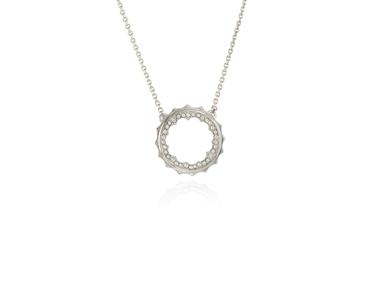 Swarovski Crystal  Taigi Medium Pendant  | Rhodium Crystal
