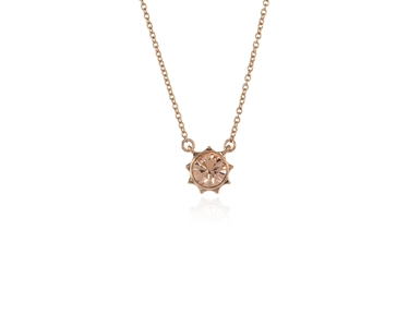 Swarovski Crystal  Bly Pendant  | Pink Gold Light Peach