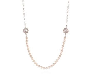 Swarovski Crystal  Becka Long Necklace  | Rhodium Crystal